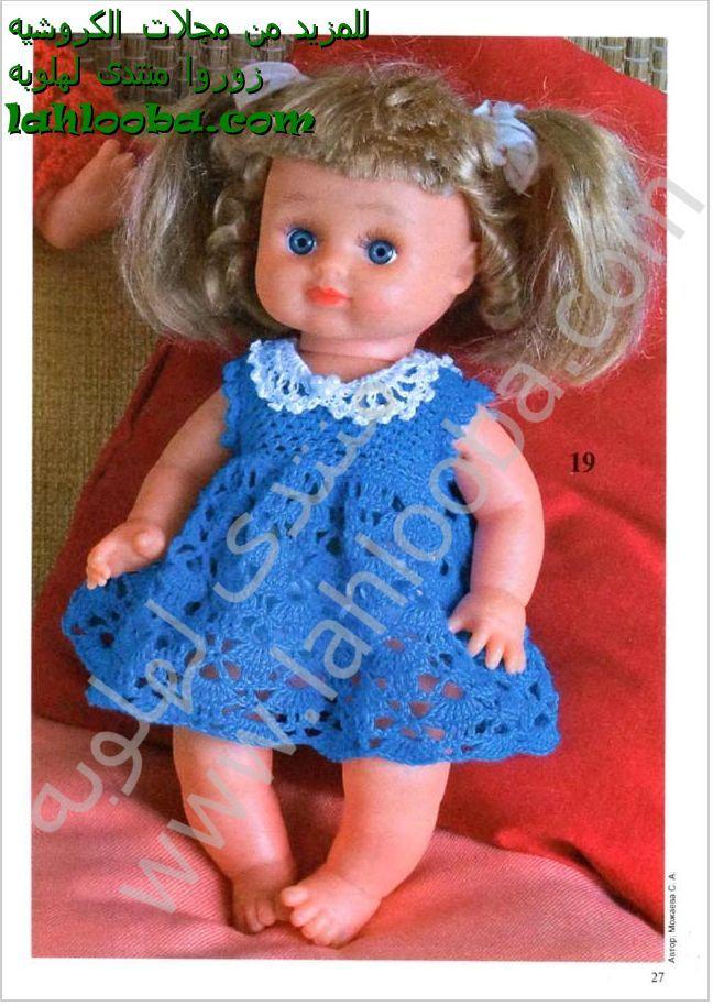 вязаные платья для кукол картинки
