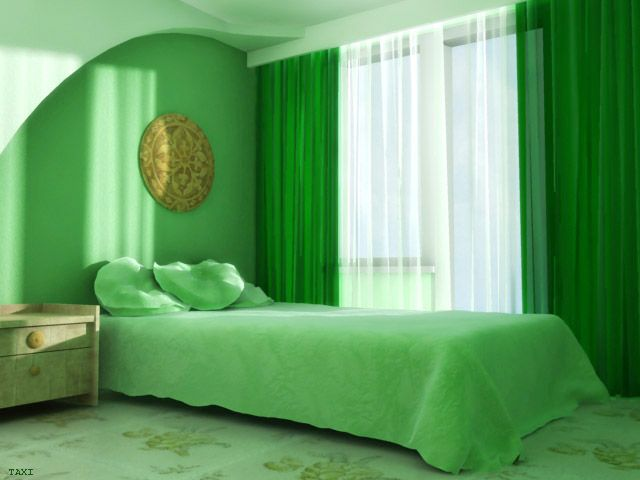 غرف نوم خضراء 2013