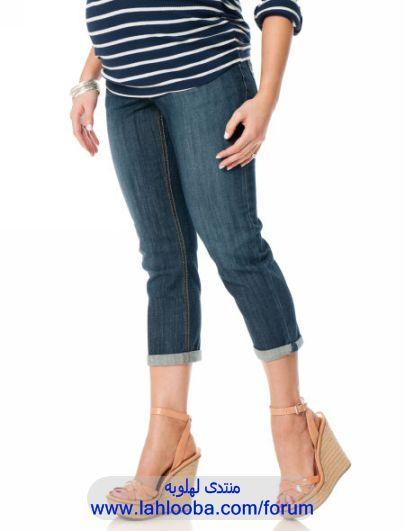 bf79d12eb538d ازياء جينزات للحوامل ، ملابس بناطيل جينز للحوامل